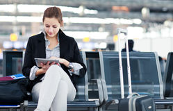 Free Young Female Passenger At The Airport Royalty Free Stock Image - 25110246