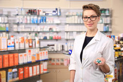 Young female pharmacist Stock Photography