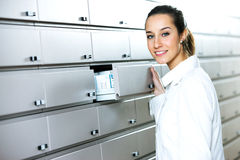 Young female pharmacist Stock Images