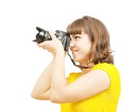 Young female photographer Royalty Free Stock Photo