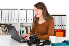 Young female photographer Stock Photography