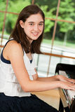 Young Female Pianist Stock Photo