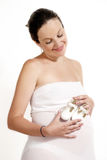 Young female pregnant Royalty Free Stock Photo