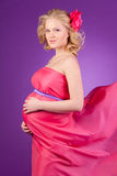 Young female pregnant Stock Image