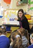 Primary school teacher Stock Photo