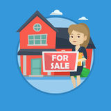 Young female realtor offering house. Stock Photography