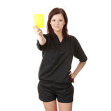 Young female referee Stock Image