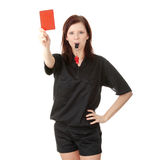 Young female referee stock photos