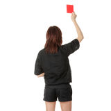 Young female referee Royalty Free Stock Image