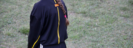 Young female referee Stock Photography