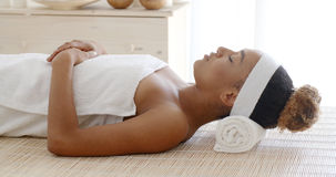Young Female Relaxing In Spa Salon Royalty Free Stock Photo