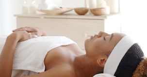 Young Female Relaxing In Spa Salon Royalty Free Stock Images