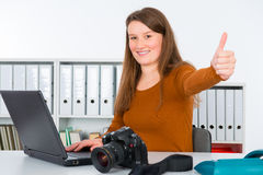Young female reporter Stock Photography