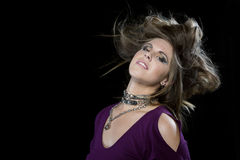 Young female rocker Royalty Free Stock Photography