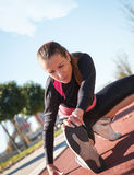 A young female runner Royalty Free Stock Photos