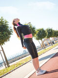 A young female runner Stock Photo