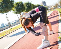 A young female runner Stock Image