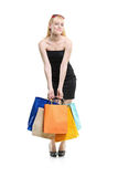 A young female with shopping bags Royalty Free Stock Photo