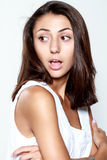 Young female showing emotions Royalty Free Stock Photo