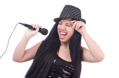 Young female singer Royalty Free Stock Photos