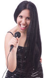 Young female singer Royalty Free Stock Image