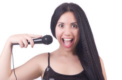Young female singer Stock Images