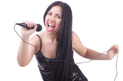 Young female singer Royalty Free Stock Photography