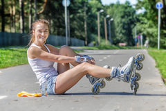 Young female skater Stock Images