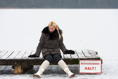 Young female skater Royalty Free Stock Images