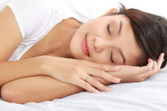 Young female sleeping Stock Photography