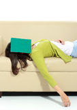 Young female sleeping Royalty Free Stock Photography
