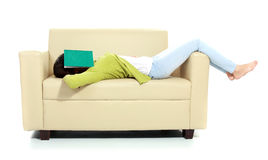 Young female sleeping Royalty Free Stock Photos