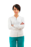 Young female in sporting clothing isolated Stock Photo