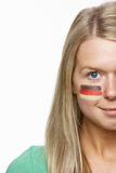 Young Female Sports Fan Stock Image