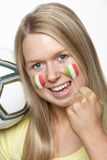 Young Female Sports Fan Stock Photos