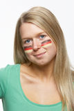 Young Female Sports Fan With German Flag Stock Photo
