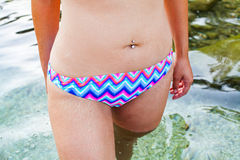 Young female stretch marks Royalty Free Stock Images