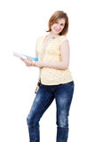 Young female student  with books Royalty Free Stock Images