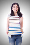 Young female student with books Stock Images