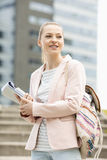 Young female student at college campus Stock Photography