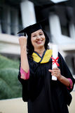 Young female student with diploma Stock Photography