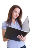 Young female student with folder Stock Images