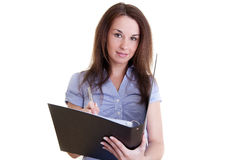 Young female student with folder Stock Photography