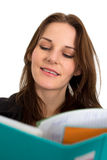 Young Female Student With A Folder/Binder. Smiling Royalty Free Stock Image
