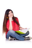 Young female student isolated Stock Photography