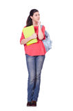 Young female student isolated Stock Image
