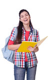 Young female student isolated Stock Photo
