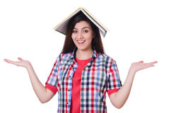 Young female student isolated Royalty Free Stock Photo