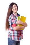 Young female student isolated Royalty Free Stock Image