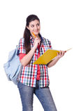 Young female student isolated Royalty Free Stock Photos